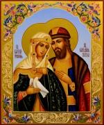 Рукописная икона Петр и Феврония 79 (Размер 21*25 см)