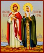 Рукописная икона Петр и Феврония 80