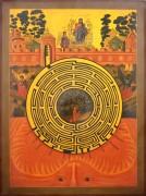 Рукописная икона Духовный Лабиринт 2