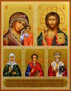 Рукописная икона Избранные святые 81