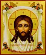 Рукописная икона Спас Нерукотворный старинный Образ 16 (Размер 21*25 см)