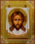 Рукописная икона Спас Нерукотворный 17