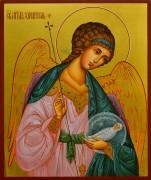 Рукописная икона Ангел Хранитель с Душой 53 (Размер 17*21 см)