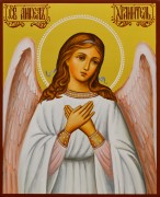 Рукописная икона Ангел Хранитель 54 (Размер 13*16 см)