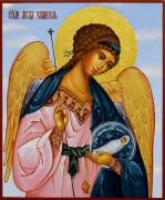 Рукописная икона Ангел Хранитель с Душой 56 (Размер 17*21 см)