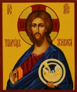 Рукописная икона Творец Живота