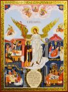 Рукописная икона Ангел Хранитель и София Сузд. с клеймами