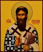 Рукописная икона Евстафий Сербский