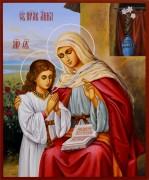 Рукописная икона Анна Праведная 2