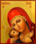 Рукописная икона Девпетерувская Божия Матерь