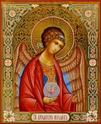 Рукописная икона Архангел Михаил 18 (Размер 13*16 см)