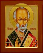 Рукописная икона Николай Чудотворец 14