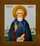 Рукописная икона Сергий Радонежский 16 (Размер 27*31 см)