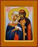Рукописная икона Петр и Феврония 82 (Размер 13*16 см)